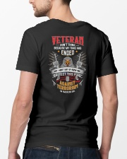 Dont Think Because My Time Ended I Protect US Flag Classic T-Shirt lifestyle-mens-crewneck-back-5