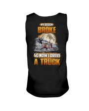 Trucker Halloween My Broom Broke Unisex Tank thumbnail