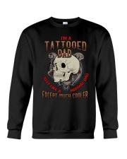 TATTOOED DAD EXCEPT MUCH COOLER Crewneck Sweatshirt thumbnail