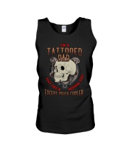TATTOOED DAD EXCEPT MUCH COOLER Unisex Tank thumbnail