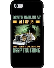 Only the brave smile back and keep trucking Phone Case thumbnail