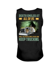 Only the brave smile back and keep trucking Unisex Tank thumbnail