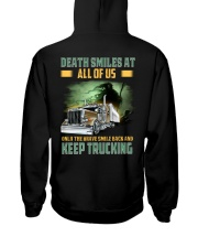 Only the brave smile back and keep trucking Hooded Sweatshirt thumbnail
