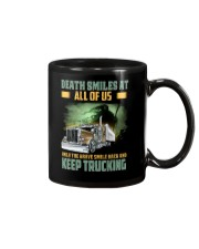 Only the brave smile back and keep trucking Mug thumbnail