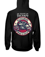 I Ride Because Therapy Is Expensive-Wind Is Cheap Hooded Sweatshirt thumbnail