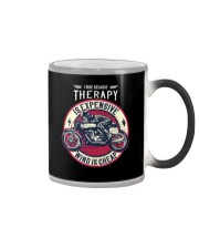 I Ride Because Therapy Is Expensive-Wind Is Cheap Color Changing Mug tile