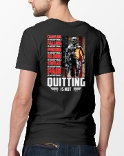 Veteran - Quitting is not  Classic T-Shirt lifestyle-mens-crewneck-back-5