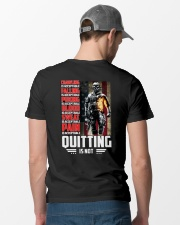 Veteran - Quitting is not  Classic T-Shirt lifestyle-mens-crewneck-back-6