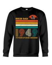 BIKER DAD 1949 - 70 Years old Crewneck Sweatshirt thumbnail