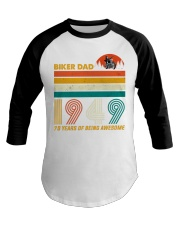 BIKER DAD 1949 - 70 Years old Baseball Tee thumbnail