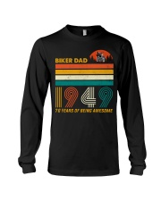 BIKER DAD 1949 - 70 Years old Long Sleeve Tee thumbnail