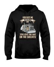 YOU HATE ME ON THE ROAD - TRUCKER Hooded Sweatshirt thumbnail