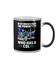 Trucker Clothes - Never underestimate CDL Color Changing Mug thumbnail
