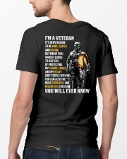 I Am A Veteran It's In My Nature Classic T-Shirt lifestyle-mens-crewneck-back-5