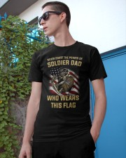 Never Doubt The Power Of Soldier Dad Who Wear Flag Classic T-Shirt apparel-classic-tshirt-lifestyle-17