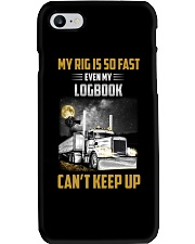 Trucker Tee Shirt - My rig is so fast Phone Case thumbnail
