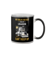 Trucker Tee Shirt - My rig is so fast Color Changing Mug thumbnail