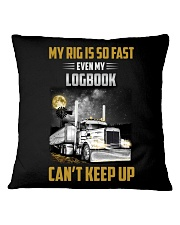 Trucker Tee Shirt - My rig is so fast Square Pillowcase thumbnail
