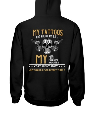 My tattoos are about my life