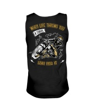 When Life Throws You A Curve Lean Into It Unisex Tank thumbnail