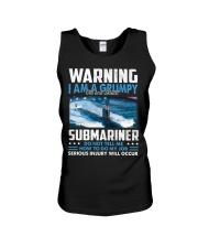 Warning I Am A Grumpy Submariner  Unisex Tank tile