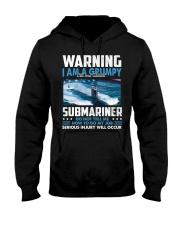 Warning I Am A Grumpy Submariner  Hooded Sweatshirt tile