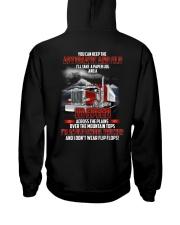 Trucker Clothes - I'm an Old School Trucker Hooded Sweatshirt back