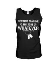 Retired Marine Do Whatever My Wife Tell Me Unisex Tank thumbnail