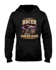 INKED DAD BIKER Hooded Sweatshirt tile