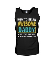 How To Be An Awesome Daddy Unisex Tank tile
