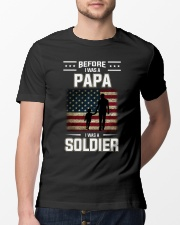 Before I Was A Papa I Was A Soldier  Classic T-Shirt lifestyle-mens-crewneck-front-13