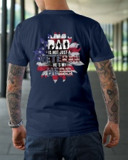 Dad Is Not A Veteran He's My Hero Classic T-Shirt lifestyle-mens-crewneck-back-3