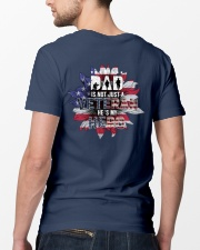 Dad Is Not A Veteran He's My Hero Classic T-Shirt lifestyle-mens-crewneck-back-5