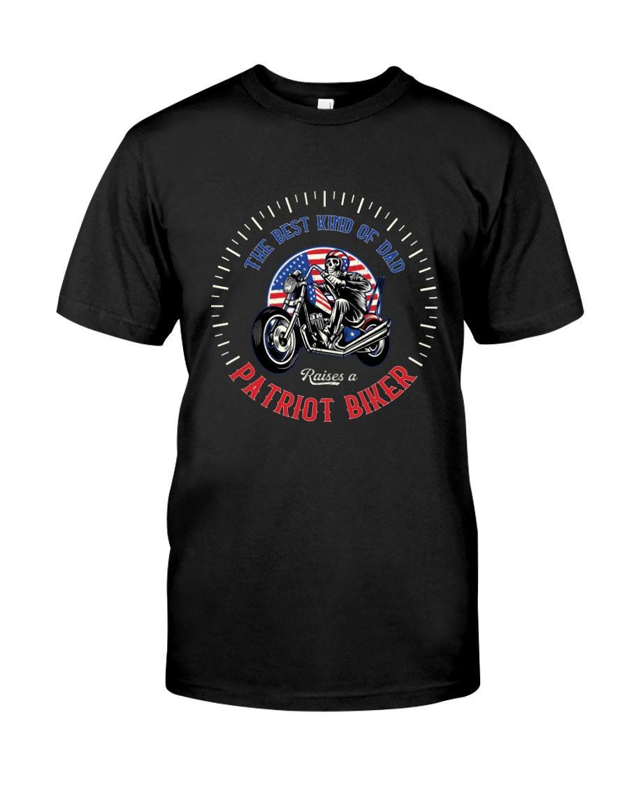 Patriot Biker Dad White Speedometer  Classic T-Shirt