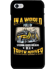 Trucker Clothes - In a world Be A Truck Driver Phone Case thumbnail