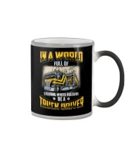 Trucker Clothes - In a world Be A Truck Driver Color Changing Mug thumbnail
