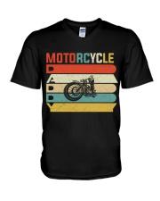 Motorcycle Daddy V-Neck T-Shirt thumbnail