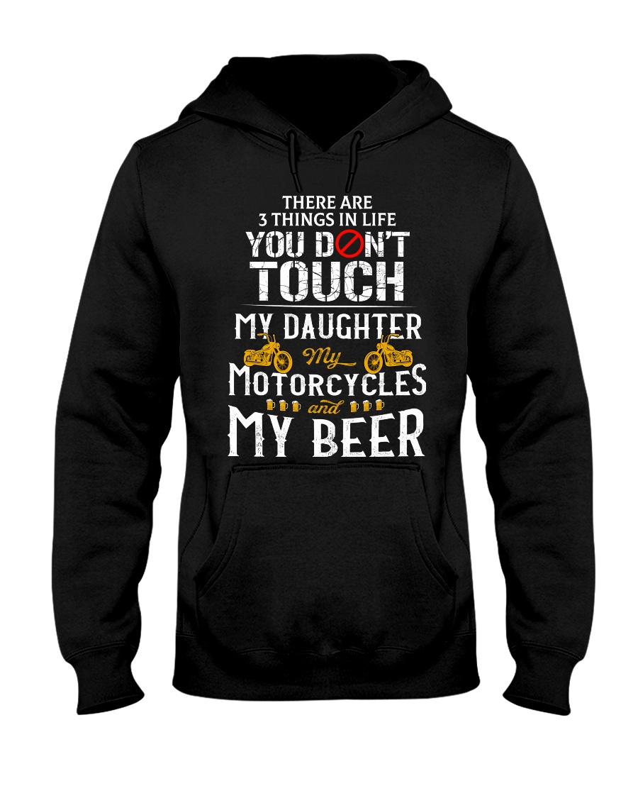 THERE ARE 3 THINGS YOU DONT TOUCH - MY BEER Hooded Sweatshirt