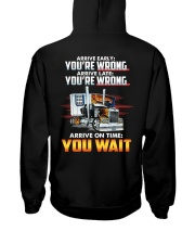 ARRIVE ON TIME YOU WAIT Hooded Sweatshirt thumbnail