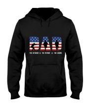 DAD - The Veteran - The Patriot - The Legend Hooded Sweatshirt tile