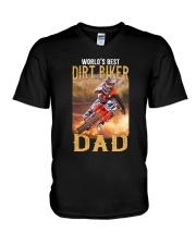 World's Best Dirt Biker Dad V-Neck T-Shirt thumbnail