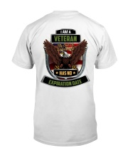 I Am A Veteran My Oath Never Expires Classic T-Shirt back