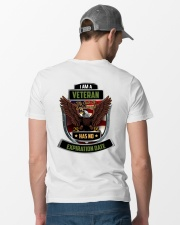 I Am A Veteran My Oath Never Expires Classic T-Shirt lifestyle-mens-crewneck-back-6