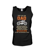 BADASS DAD -MOTORCYCLE Unisex Tank front
