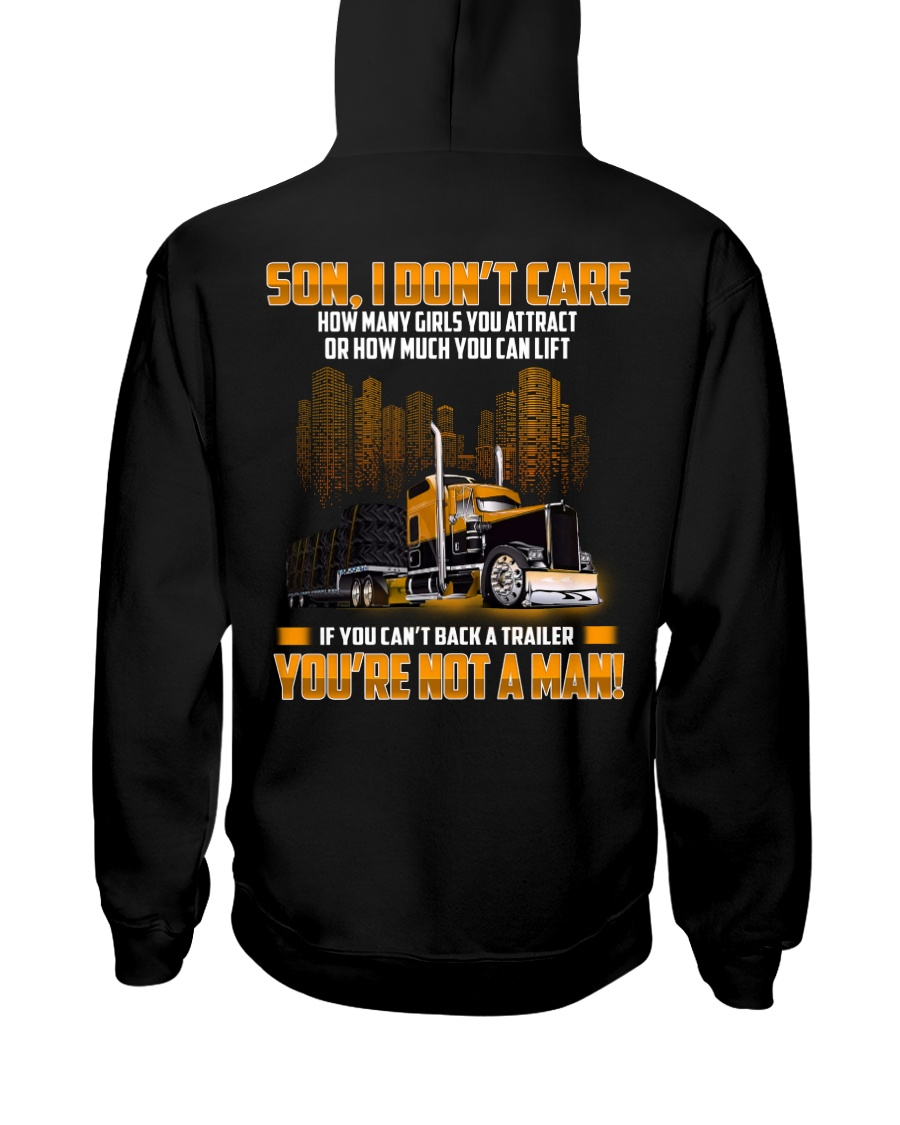 Trucker Clothes -Trucker Son I don't care Hooded Sweatshirt