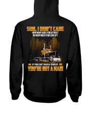 Trucker Clothes -Trucker Son I don't care Hooded Sweatshirt back