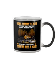 Trucker Clothes -Trucker Son I don't care Color Changing Mug thumbnail