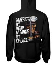 American By Birth Marine By Choice Hooded Sweatshirt thumbnail