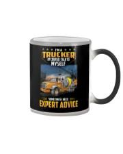 Trucker Clothes - I'm a Trucker - I talk to myself Color Changing Mug thumbnail