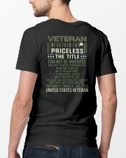 Veteran Priceless The Title  Classic T-Shirt lifestyle-mens-crewneck-back-5